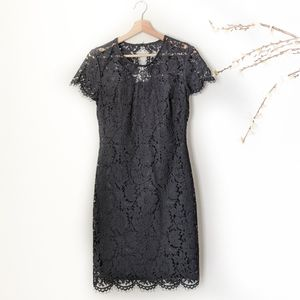 Banana Republic Dress Lace Black Gown XS 0 NWT